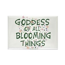 Blooming Things Goddess Rectangle Magnet