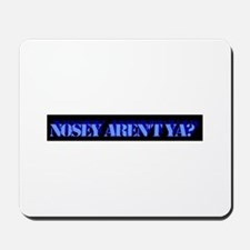 Nosey, Blue on Black Mousepad