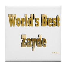 World's Best Zayde Tile Coaster
