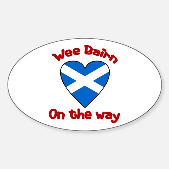 Wee Bairn On the Way Oval Decal