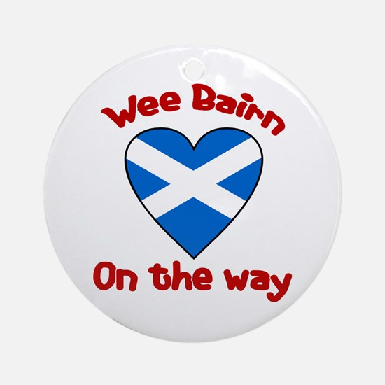 Wee Bairn On the Way Ornament (Round)