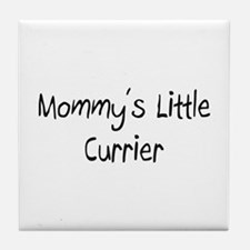 Mommy's Little Currier Tile Coaster