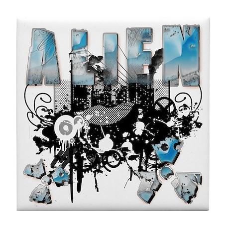 Alien Vector Design 32 Tile Coaster
