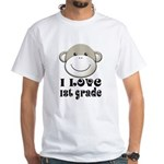 I Love First Grade White T-Shirt