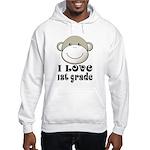 I Love First Grade Hooded Sweatshirt