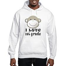 I Love First Grade Hoodie