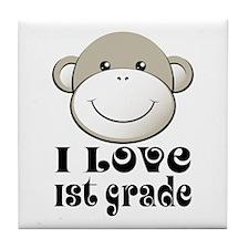 I Love First Grade Tile Coaster