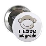 "I Love First Grade 2.25"" Button (10 pack)"