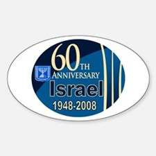 Israel At 60! Oval Decal