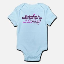 faster than yours 1 Infant Bodysuit