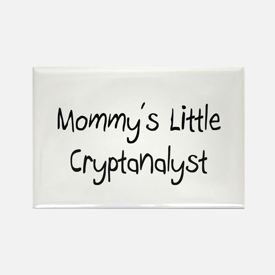 Mommy's Little Cryptanalyst Rectangle Magnet