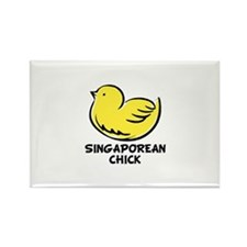 Singaporean Chick Rectangle Magnet