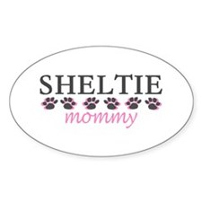 SHELTIE MOMMY Oval Decal