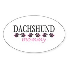 DACHSHUND MOMMY Oval Decal