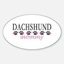 DACHSHUND MOMMY Oval Decal