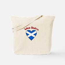 Wee Bairn Heart Tote Bag