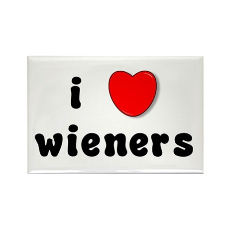 i love weiners Rectangle Magnet (100 pack)