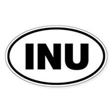 INU Oval Decal
