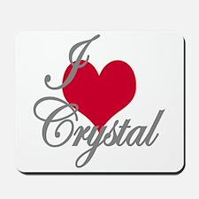 I love (heart) Crystal Mousepad
