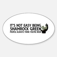 Be Shamrock Green Sticker (oval)