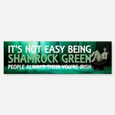 Be Shamrock Green Bumper Bumper Sticker