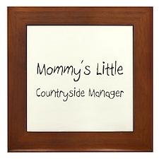 Mommy's Little Countryside Manager Framed Tile