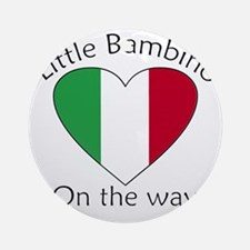 Little Bambino On the Way Ornament (Round)