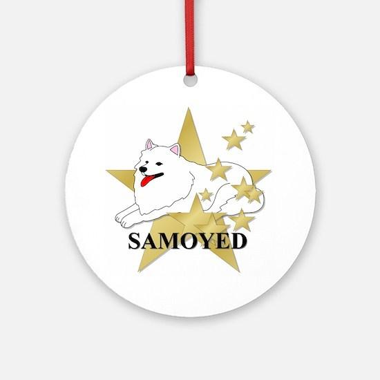 Samoyed Stars Ornament (Round)