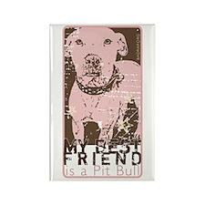 Vintage Best Friend Rectangle Magnet