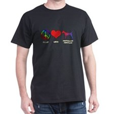 Peace Love Smooth Podengo T-Shirt