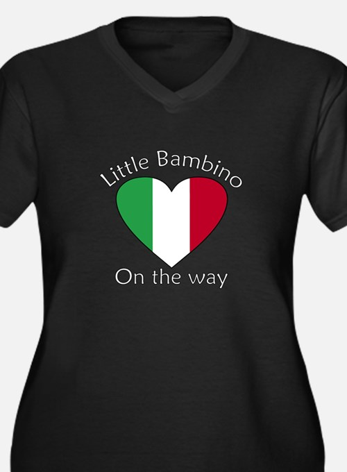 Little Bambino On the Way2 Women's Plus Size V-Nec
