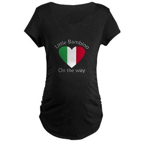 Little Bambino On the Way2 Maternity Dark T-Shirt
