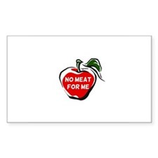 No Meat For Me Rectangle Decal