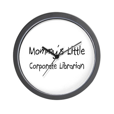 Mommy's Little Corporate Librarian Wall Clock