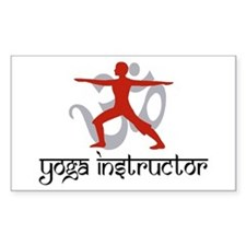 Yoga Instructor Rectangle Decal