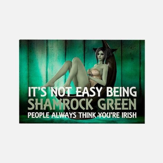 Be Shamrock Green Rectangle Magnet