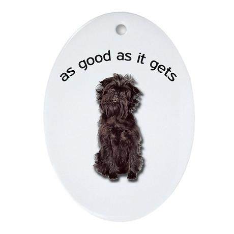 Good Affenpinscher Ornament (Oval)