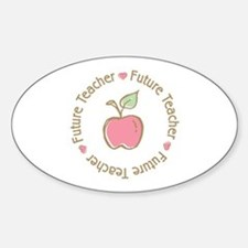 Future Teacher Oval Decal