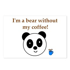 BEAR WITHOUT COFFEE Postcards (Package of 8)