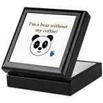 BEAR WITHOUT COFFEE Keepsake Box
