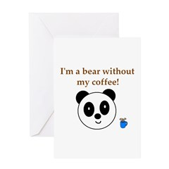 BEAR WITHOUT COFFEE Greeting Card