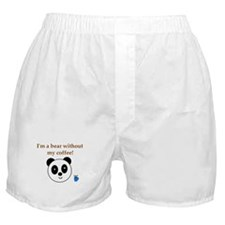 BEAR WITHOUT COFFEE Boxer Shorts