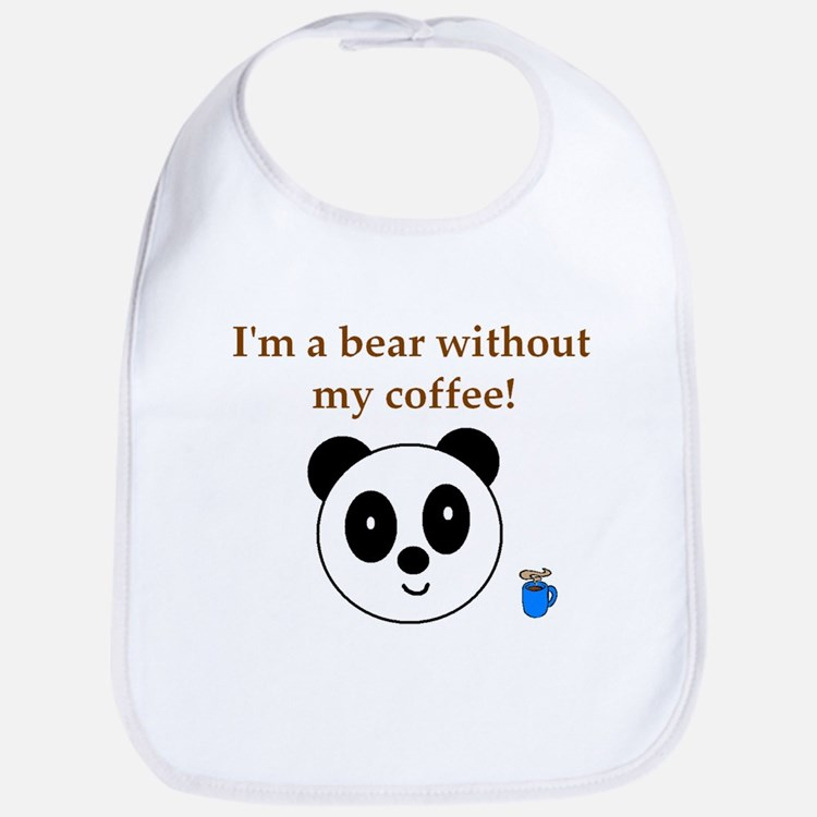 BEAR WITHOUT COFFEE Bib