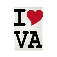 I Heart VA Rectangle Magnet