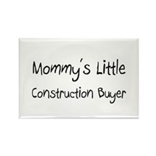 Mommy's Little Construction Buyer Rectangle Magnet