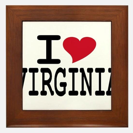 I Heart Virginia Framed Tile
