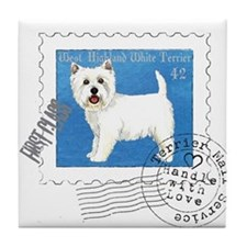 Westie Stamp Tile Coaster