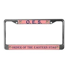 OES Pink License Plate Frame