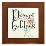 Flower Goddess Framed Tile