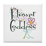 Flower Goddess Tile Coaster